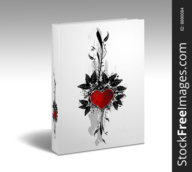 Book with a heart design