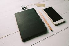 Free Notebook Phone And Airplane Stock Photo - 88983500
