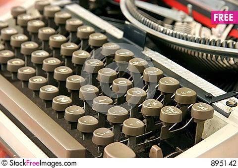Free Typewriter Stock Photography - 895142