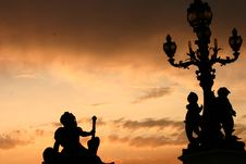 Free Paris Sunset Royalty Free Stock Photography - 892937