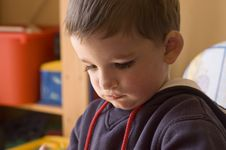 Free Toddler Portrait In His Room Royalty Free Stock Image - 893076