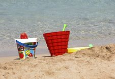 Free Beach Tools! Stock Photography - 893702