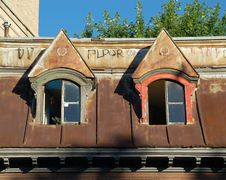 Free Old Roof In Montreal. Royalty Free Stock Photography - 894217