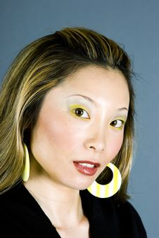 Free Headshot Of A Japanese Woman Stock Photography - 895882
