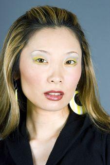 Headshot Of A Japanese Woman