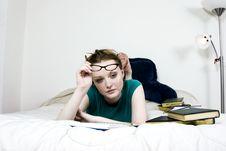 Free Female Student Thinking Stock Photo - 895990