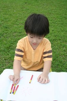 Free Boy Coloring Royalty Free Stock Photo - 896005