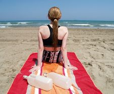 Free Sitting At The Beach Stock Image - 896141