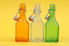 Free Three Shiny Bottles Royalty Free Stock Images - 896299