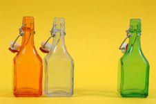 Free Three Shiny Bottles Stock Image - 896301