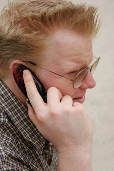 Free Serious Phone Call Stock Photo - 896390