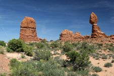 Free Balanced Rock - Arches National Park Royalty Free Stock Image - 896426