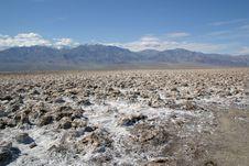 Crystaline Salt In Death Valley Royalty Free Stock Photos