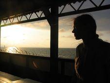 Free Sundown With Women Stock Image - 897891