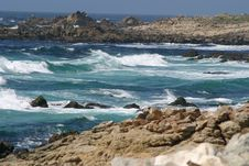 Free Rugged Rocks Of Pacific Coastline Stock Images - 898974