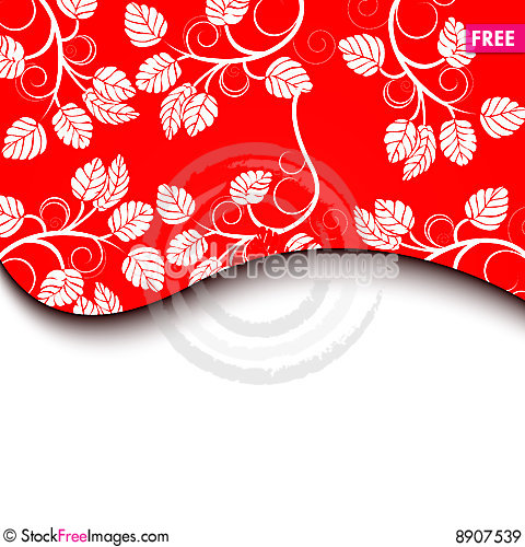 Free Red Floral Background Royalty Free Stock Images - 8907539