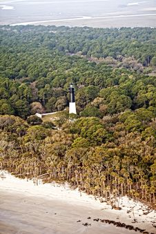 Aerial Lighthouse Hrd Royalty Free Stock Photography