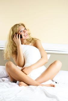 Free Pretty Girl Talking On The Cellphone Stock Photo - 8900360