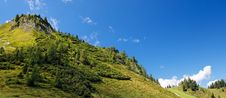 Lush Green Hill In Bright Summer Day Stock Photography