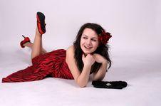 Free Laughing Pinup Girl Stock Image - 8900871