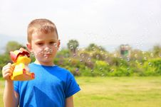 Free Boy And Bubble Stock Images - 8901394