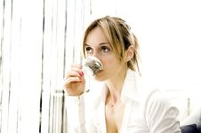 Free Woman Having Her Coffee Stock Images - 8901494