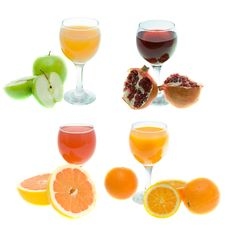 Free Different Juice And Fruits Stock Photo - 8901800