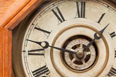 Worn Vintage Antique Clock Face Stock Image