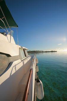 Free Power Boat At Anchor Stock Image - 8902641