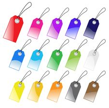 Free Colored Vector Tags Collection. Royalty Free Stock Image - 8902876