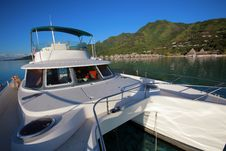 Free Power Catamaran On Lagoon Stock Photo - 8903040