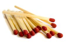 Close Up Of Pile Of Matches Stock Photos