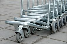 Free Luggage Carts Royalty Free Stock Photos - 8903858
