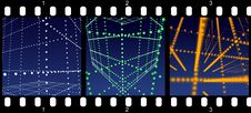 Free Filmstrip - Abstract Halo Rooms Royalty Free Stock Photos - 8904308