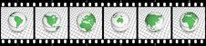 Free Green Globe Film Strip Royalty Free Stock Image - 8904326