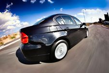 Free Black Car In Motion Stock Photography - 8905032