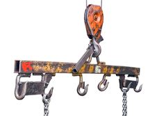 Free Lifting Mechanism With Hooks And Chains Royalty Free Stock Image - 8905156
