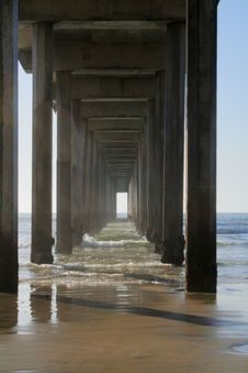 Pier Perspective Royalty Free Stock Photos