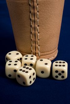Dice Cup And Dice Stock Photography