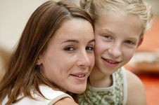Free Young Woman And Girl Royalty Free Stock Photo - 8906745