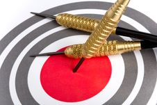 Free Target With Arrows On White Stock Images - 8906804
