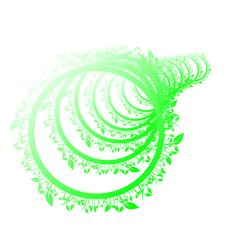 Free Floral Green Circle Stock Photography - 8907032