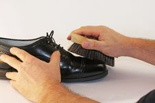 Shoe Buff Royalty Free Stock Images