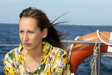 Free Woman On The Boat Stock Images - 8907464
