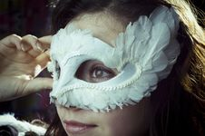 Free Girl In A Mask Royalty Free Stock Image - 8907546