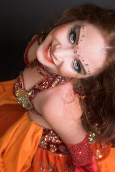 Free Belly Dancer In Red Royalty Free Stock Photos - 8907808