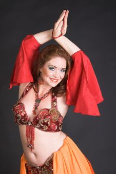 Free Belly Dancer In Red Stock Photo - 8907980