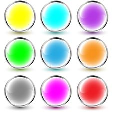 Free Set Of Vector Web Buttons Royalty Free Stock Photo - 8908515