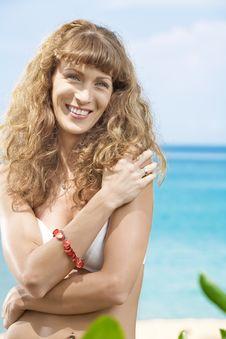 Free Girl  On Beach Stock Image - 8908771