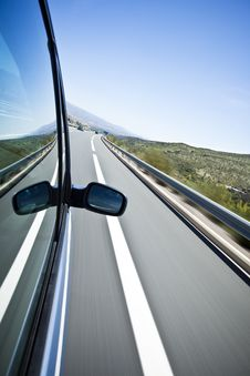 High Speed At Highway Stock Photography